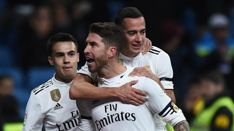 Real Madrid 3 Leganes 0: Ramos reaches 100 goals to earn Copa del Rey advantage