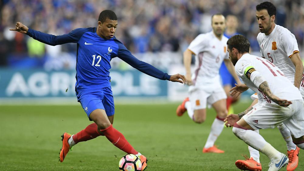 Kylian Mbappe France Spain Friendly 28032017