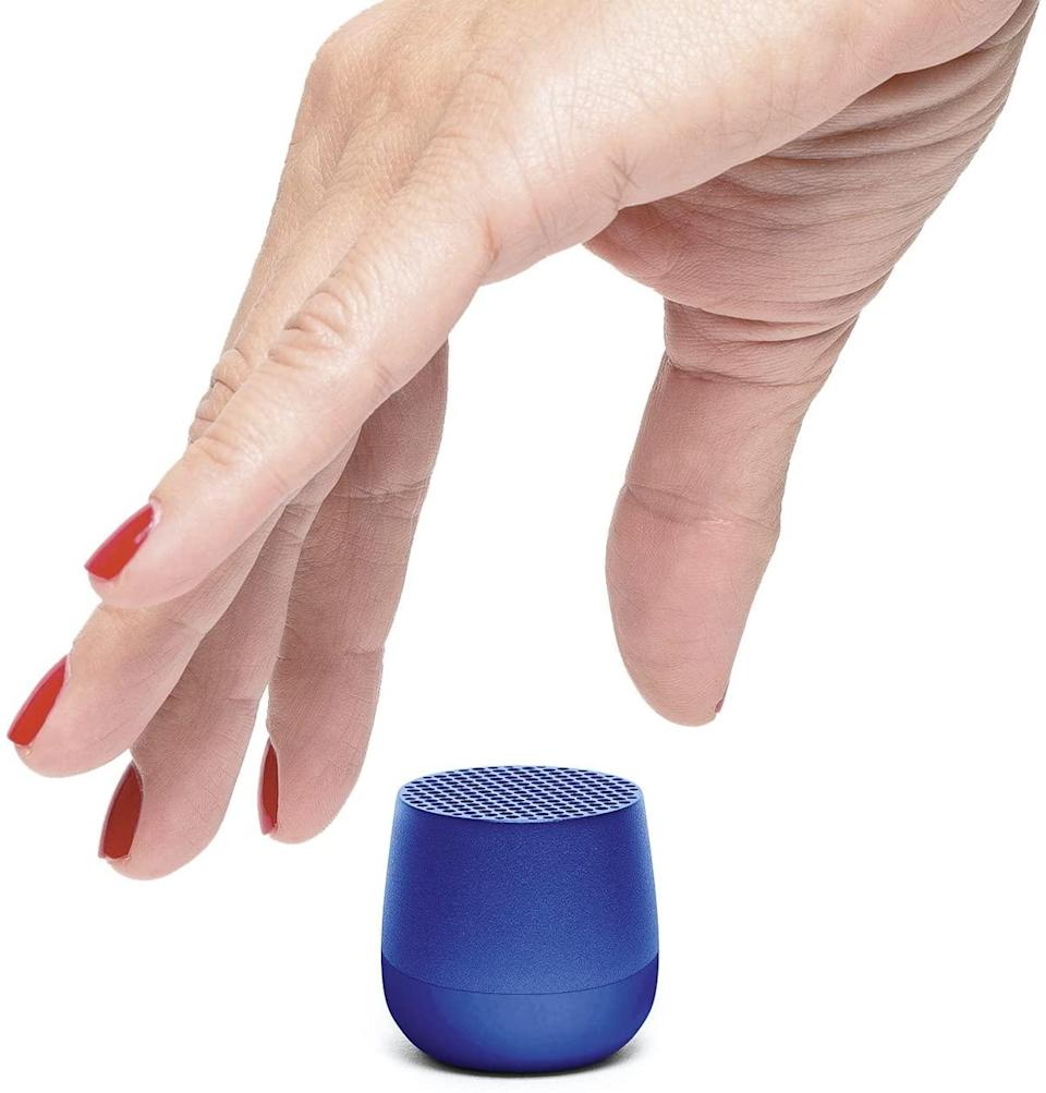 """<h2>Lexon Mino <br></h2><br>Squee! We'd buy this Lilliputian speaker based on tiny-ness alone, but it actually functions; both as a portable speaker and a selfie timer. <br><br><strong>Lexon MINO</strong> Ultra Portable Bluetooth Speaker, $, available at <a href=""""https://www.amazon.com/Lexon-MINO-Portable-Bluetooth-Rechargable/dp/B07C7CQ4PD/ref=sr_1_164"""" rel=""""nofollow noopener"""" target=""""_blank"""" data-ylk=""""slk:Amazon"""" class=""""link rapid-noclick-resp"""">Amazon</a>"""