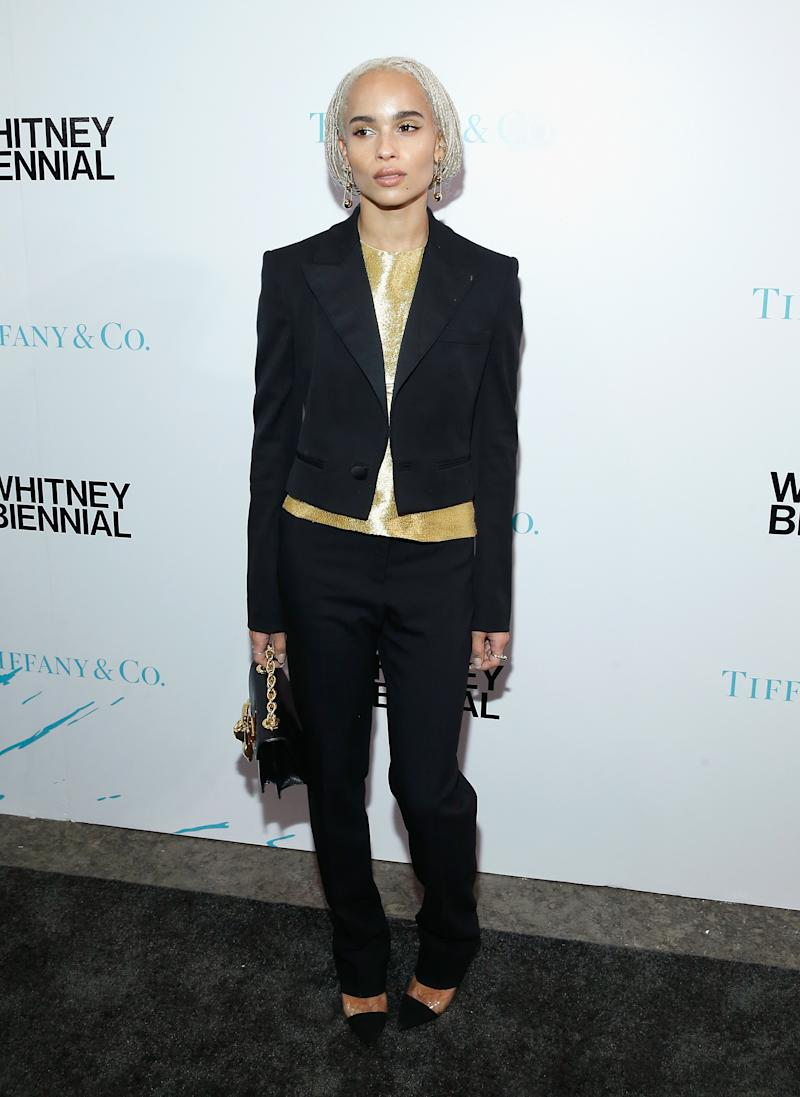 Kravitz attends 2017 Whitney Biennial presented by Tiffany & Co at The Whitney Museum of American Art on March 15, 2017.