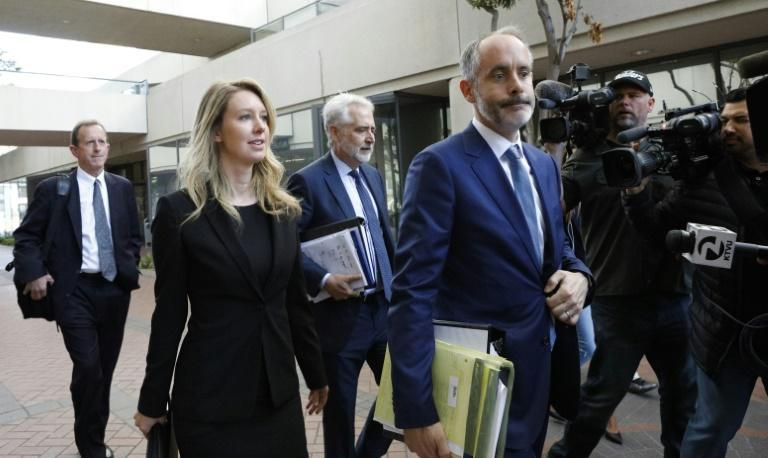 Seen at a 2019 court appearance, former Theranos CEO Elizabeth Holmes became a billionaire from her startup before its breakthrough claims were debunked (AFP/Kimberly White)