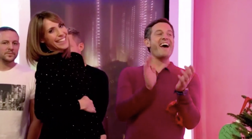 Alex Jones broke the news of her second pregnancy live on The One Show