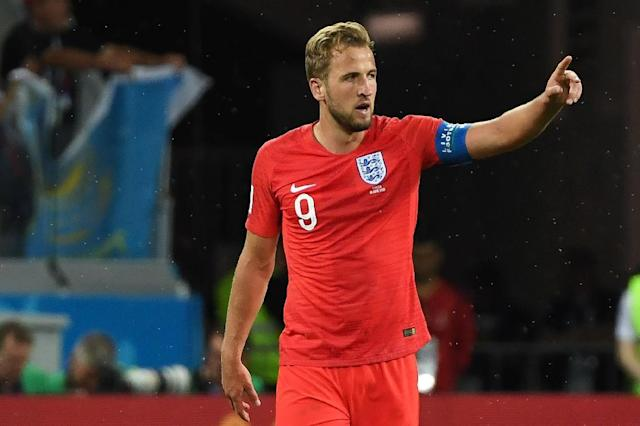 England captain Harry Kane displays same passion as Diego Maradona according to his Spurs boss Mauricio Pochettino (AFP Photo/Mark RALSTON)