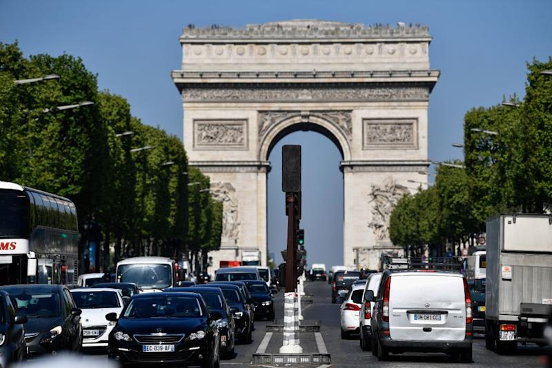 Life on the Champs Elysees returns to normal - Credit: GETTY