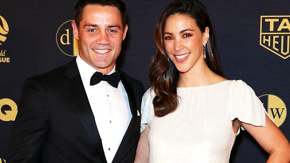 Cooper Cronk and Tara Rushton. (Photo by Jason McCawley/Getty Images)