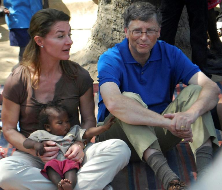 Bill and Melinda Gates (pictured during a 2011 visit to a village in India's Bihar state) have chaneled billions to global health and education programs through their foundation