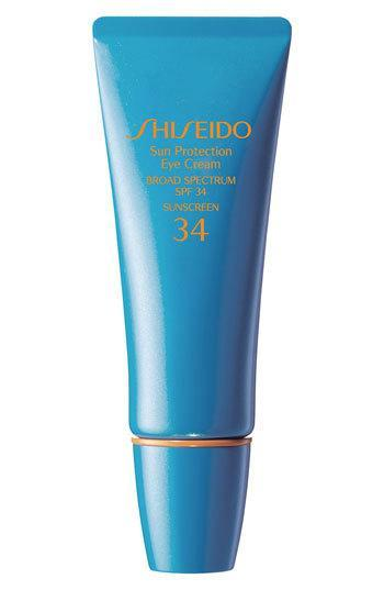 "<p>This is my pick for a long beach day. The formula is quite thick and white, but it rubs in pretty well with a matte finish. It stays put and doesn't sting your eyes after swimming. <a href=""http://www.shiseido.com/sun-protection-eye-cream/0730852104785,en_US,pd.html?gclid=CjwKEAjwzuisBRClgJnI4_a96zwSJACAEZKemvAnEJPqq3Fig4y7b5U7m9wYoS9mTDaWjDZAKa7EjBoCsXzw_wcB"" rel=""nofollow noopener"" target=""_blank"" data-ylk=""slk:Shiseido Sun Protection Eye Cream SPF 34"" class=""link rapid-noclick-resp"">Shiseido Sun Protection Eye Cream SPF 34</a> ($33)</p>"