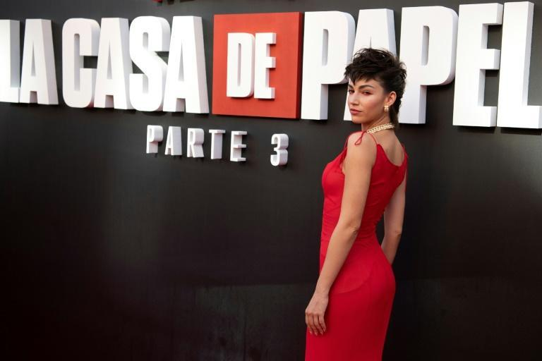 """Spanish actress Ursula Corbero starred in the series """"Money Heist,"""" a global success for Netflix"""