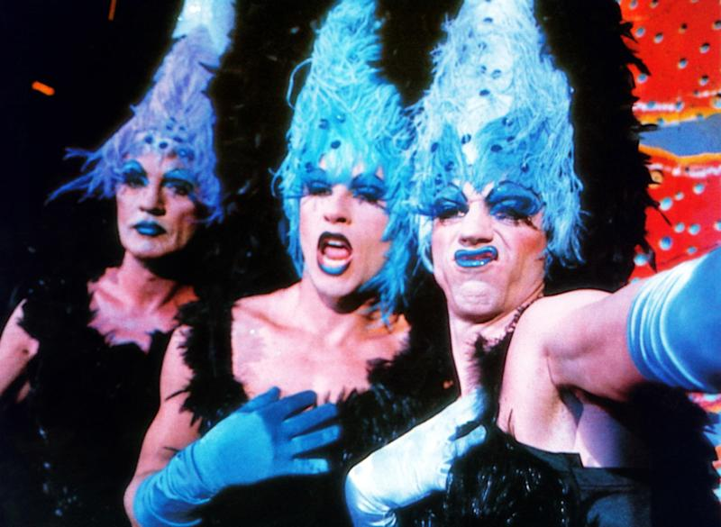 The Adventures of Priscilla, Queen of the Desert, 1994 Costume Designer: Tim Chappel and Lizzy Gardiner The original drag-queens-on-the-road movie is filled with campy outfits and heartfelt moments, but nothing beats the trio climbing to the top of Australia's King's Canyon dressed as drag showgirls, complete with feather headdresses.