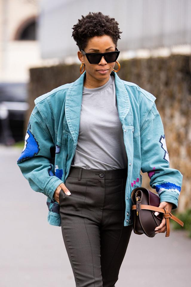 """<p>As we all turn more and more to sustainable fashion choices, with vintage stores becoming a frequent hang out, rooting around in the archives is an excellent way to get your hands on some fabulous older denim pieces. How about an 80s batwing sleeved denim jacket?</p><p><a class=""""body-btn-link"""" href=""""https://www.elle.com/uk/fashion/g31174216/vintage-clothing-online/"""" target=""""_blank""""></a><a class=""""body-btn-link"""" href=""""https://www.elle.com/uk/fashion/g31174216/vintage-clothing-online/"""" target=""""_blank"""">Check Out The Best Online Vintage Stores Here</a></p>"""