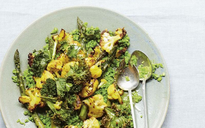 Pea and cauliflower bowl - Credit: CLARE WINFIELD