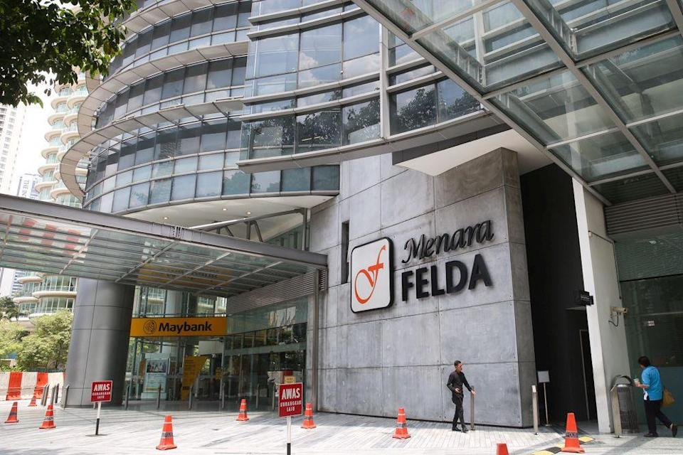 The Felda logo is seen at its headquarters in Kuala Lumpur October 9, 2019. — Picture by Choo Choy May