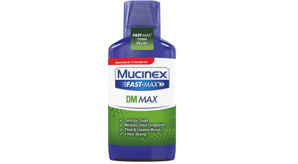 Mucinex Fast-Max DM, Max Strength Chest Congestion Relief (Photo: Amazon)
