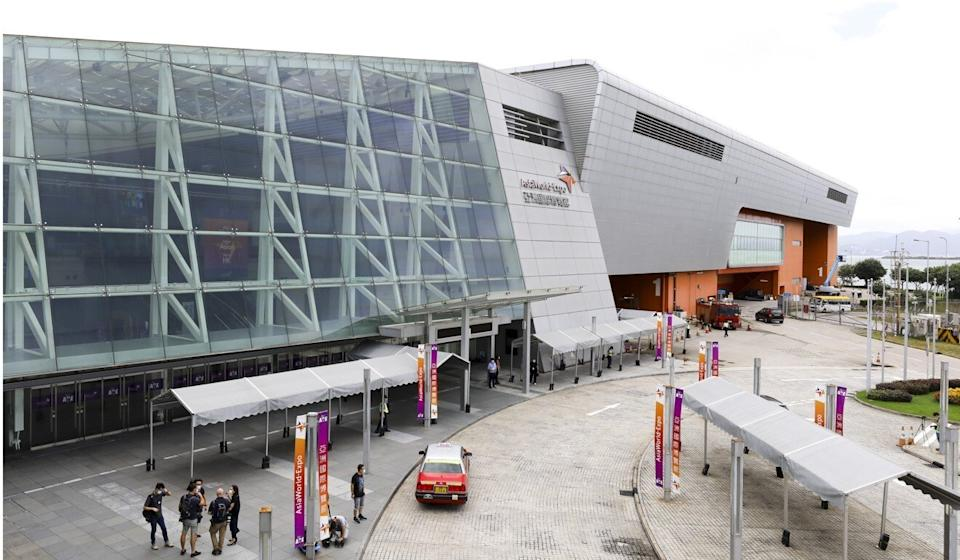 Another exhibition hall at AsiaWorld-Expo could be used for more beds, officials say. Photo: Dickson Lee