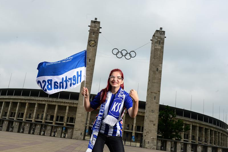 Hertha-Fan: Die Frau mit Power