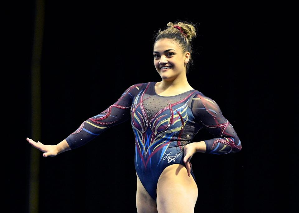 Laurie Hernandez during the Winter Cup in Feb. 2021.