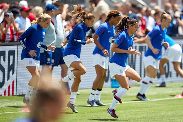 The USWNT knows winning the World Cup again would be a strong argument in their case for equal pay. (Getty)