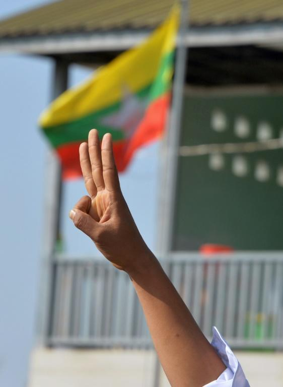 "The three-finger salute popularized by ""The Hunger Games"" has become a symbol of defiance against Myanmar's new junta"