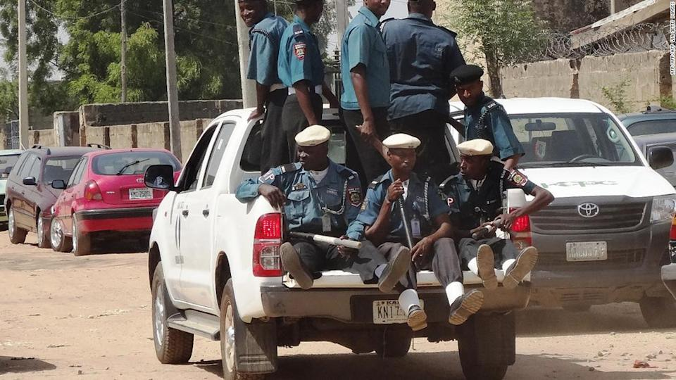 """<p>A team of Islamic sharia enforcers called Hisbah on patrol in the northern Nigerian city of Kano. </p><div class=""""cnn--image__credit""""><em><small>Credit: AFP/AFP/AFP via Getty Images / AFP via Getty Images</small></em></div>"""