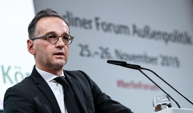 German Foreign Minister Heiko Maas speaks at a policy forum in Berlin. Photo: DPA