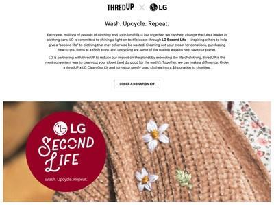 LG is the first non-fashion brand to leverage thredUP's Resale-as-a-ServiceⓇ, signaling that companies across industries are participating in the apparel resale economy.