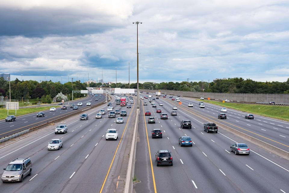 TORONTO, ONTARIO, CANADA - 2017/01/11: King's Highway 401, commonly referred to as Highway 401 is one of the busiest highways in Canada.  The image was taken at the height of Victoria Park Ave. (Photo by Roberto Machado Noa/LightRocket via Getty Images)