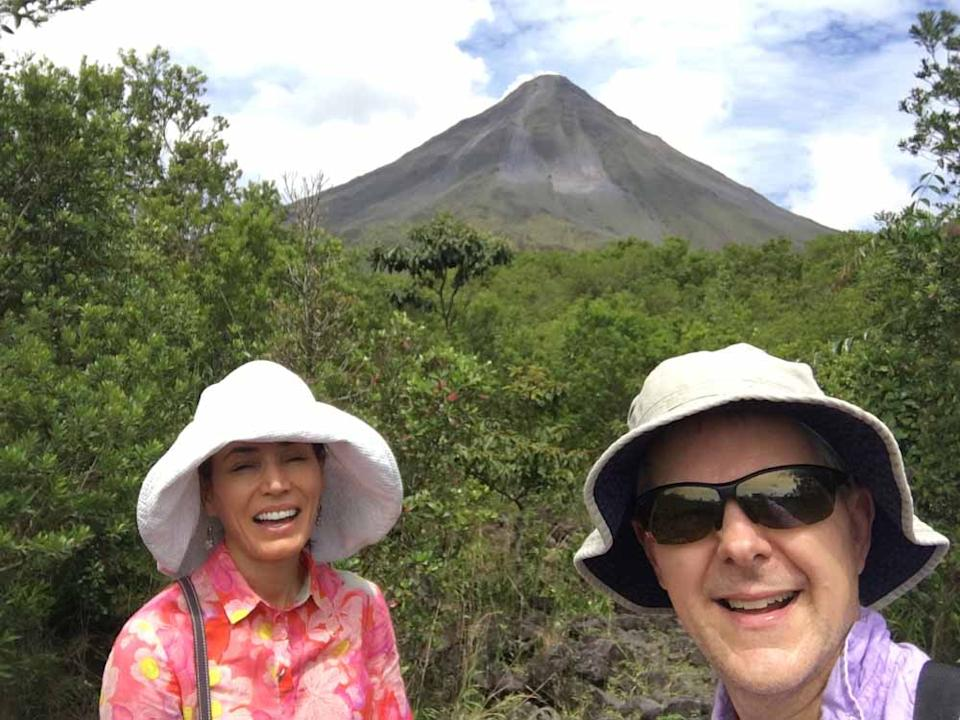 Chris and Galina in the jungle in Costa Rica.