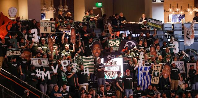 The Clutch Crew has been a fixture at Milwaukee Bucks' games for nearly a decade. (Jeff Phelps/Milwaukee Bucks)