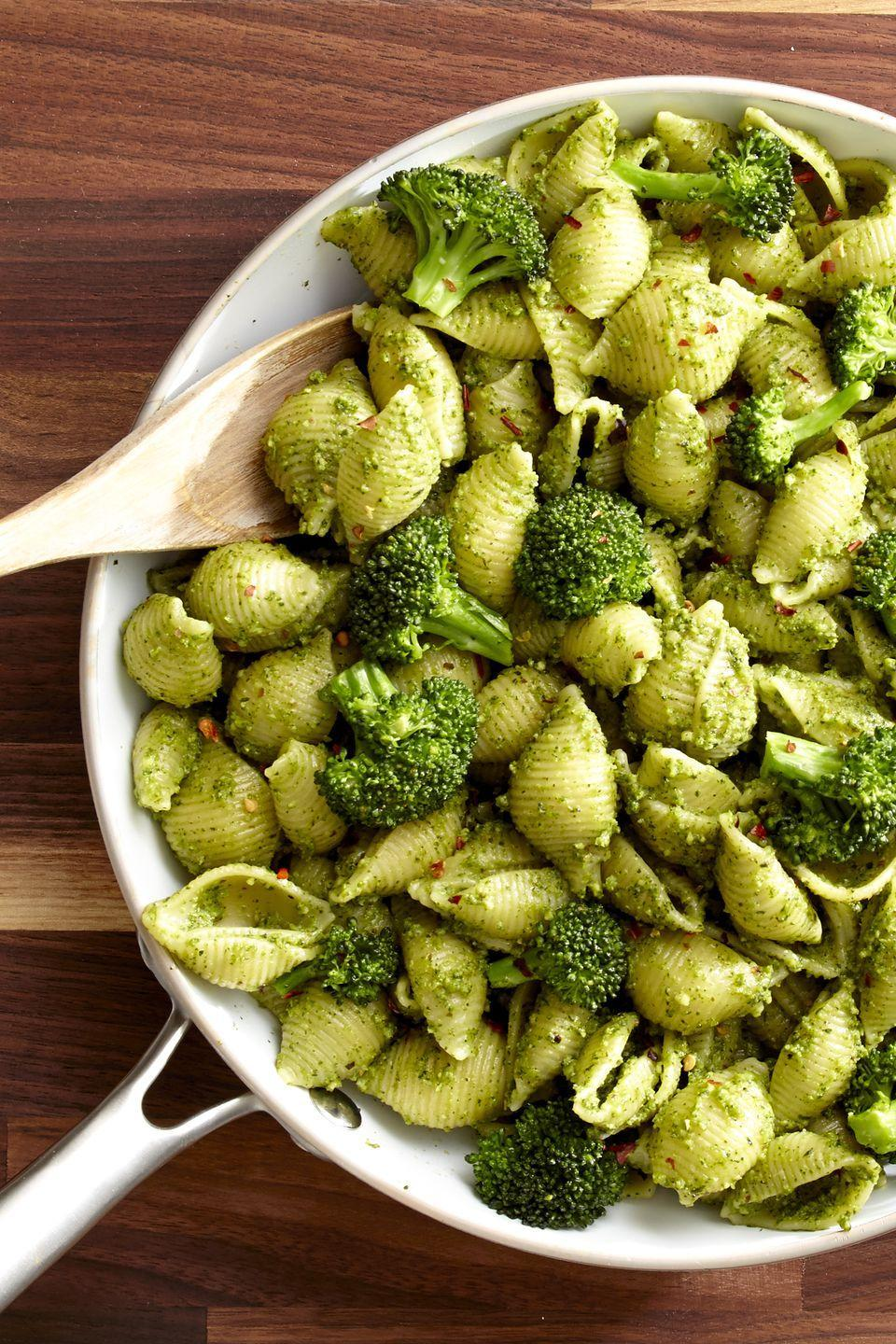 "<p>Get your broccoli on with this delicious pesto.</p><p>Get the recipe from <a href=""https://www.delish.com/cooking/recipes/a46634/broccoli-pesto-recipe/"" rel=""nofollow noopener"" target=""_blank"" data-ylk=""slk:Delish"" class=""link rapid-noclick-resp"">Delish</a>.<br></p>"