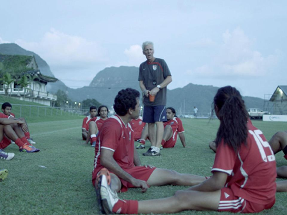 American Samoa coach Thomas Rongen has his work cut out in'Next Goal Wins' (Icon Productions)