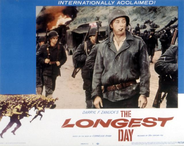 The Longest Day, lobbycard, Robert Mitchum, 1962. (Photo by LMPC via Getty Images)