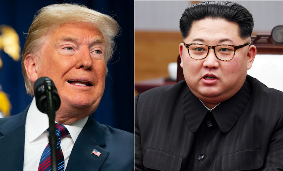 <em>Kim Jong-un reportedly begged Donald Trump to continue with their summit (Rex)</em>