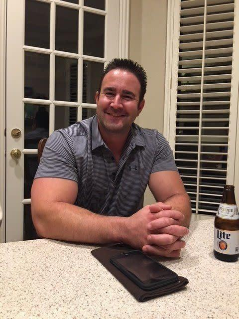 """John Grove inthe late summer of2016. Grove diedmonths laterof """"acute mitragynine intoxication,"""" according to theGeorgia Bureau of Investigation. (Photo: Courtesy of Bob Grove)"""