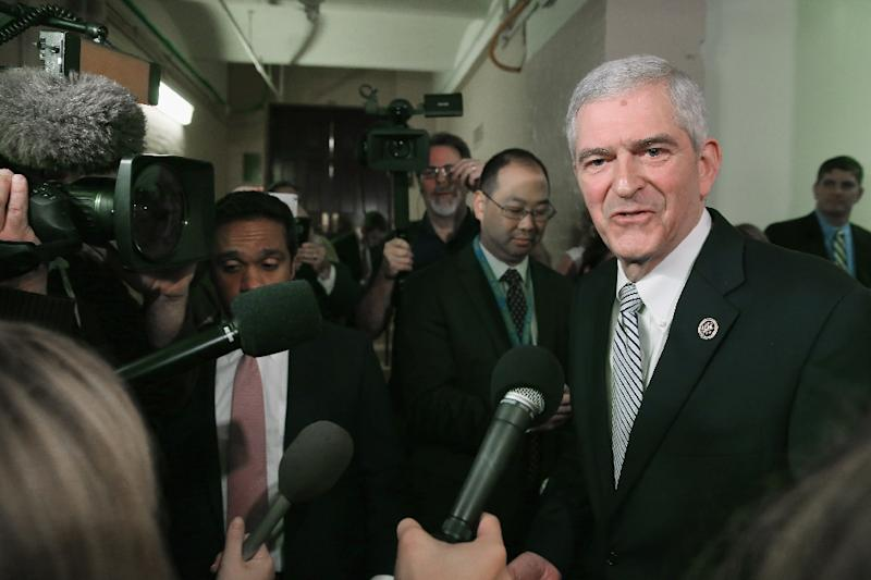 Representative Daniel Webster talks to reporters after leaving a House GOP candidates forum at the US Capitol on October 28, 2015 (AFP Photo/Chip Somodevilla)