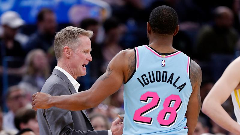 Steve Kerr cheering for Andre Iguodala in NBA Finals, 'perfect fit' for Heat