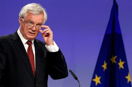 FILE PHOTO: Britain's Secretary of State for Exiting the EU David Davis in Brussels