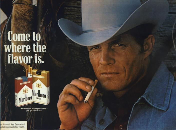 In this undated photo courtesy of Susan Lawson shows Eric Lawson. Lawson, who portrayed the rugged Marlboro man in cigarette ads during the late 1970s, has died. He was 72. Lawson died Jan. 10, 2014, at his home in San Luis Obispo, Calif., of respiratory failure due to chronic obstructive pulmonary disease, or COPD, his wife, Susan Lawson said Sunday, Jan. 26, 2014. (AP Photo/Lawson Family)