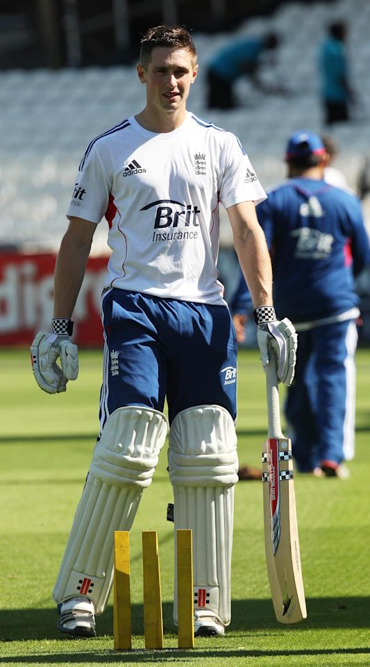 England's Chris Woakes during a nets session at The Kia Oval, London.