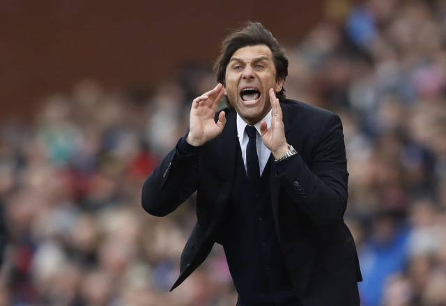 """<p>Britain Football Soccer – Stoke City v Chelsea – Premier League – bet365 Stadium – 18/3/17 Chelsea manager Antonio Conte Action Images via Reuters / Carl Recine Livepic EDITORIAL USE ONLY. No use with unauthorized audio, video, data, fixture lists, club/league logos or """"live"""" services. Online in-match use limited to 45 images, no video emulation. No use in betting, games or single club/league/player publications. Please contact your account representative for further details. </p>"""