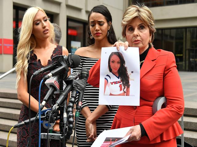 "Former Houston Texans cheerleaders, Hannah Turnbow and Angelina Rosa, alongside three other others, filed a suit in June in a Texas District Court claiming mistreatment and abuse. The Texans have denied the claim. <span class=""copyright"">Photo: Mike Coppola/Getty Images. </span>"