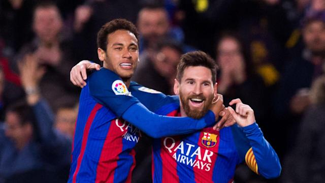 The Argentine is yet to pen a contract beyond 2018 with the Blaugrana but the Brazilian is confident his fellow forward will remain at the Liga side