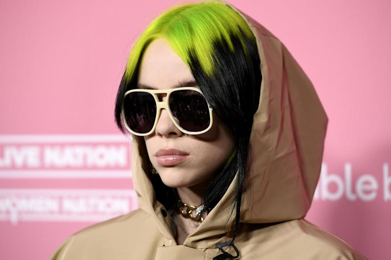 Billie Eilish at the 2019 Billboard Women In Music event on 12 December 2019 in Los Angeles, California: Frazer Harrison/Getty Images