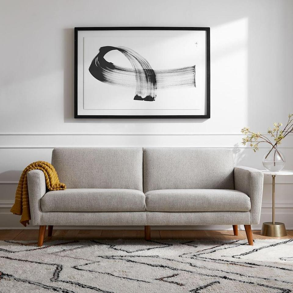 <p>This comfortable and polished <span>West Elm Oliver Sofa</span> ($499) will make a great addition to your minimalist living room.</p>