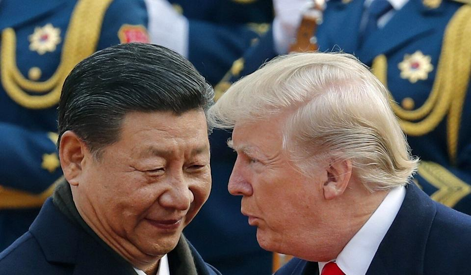 President Xi Jinping and US counterpart Donald Trump at the Great Hall of the People in Beijing in November 2017. Photo: AP