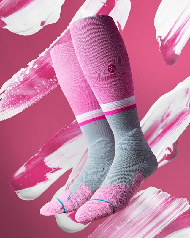 A matching pair of pink socks is optional for every player, while regular Club jerseys will be adorned by a pink ribbon on the left chest. Since 2006, players have swung pink bats, worn pink ribbon decals and sported pink wristbands on Mother's Day to raise awareness and, through charity auctions, funds to fight breast cancer.