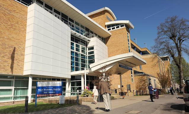 A file image of the main entrance to Royal Berkshire Hospital in Reading (PA)