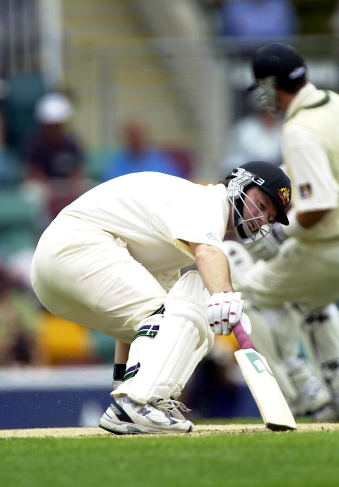24 Nov 2000:  Captain of Australia Steve Waugh takes early runs with his brother Mark Waugh against West Indies  during the second  day of the First Test match between Australia and West Indies at The Gabba cricket ground in Brisbane, Australia.xDIGITALIMAGE Mandatory Credit: Darren England/ALLSPORT