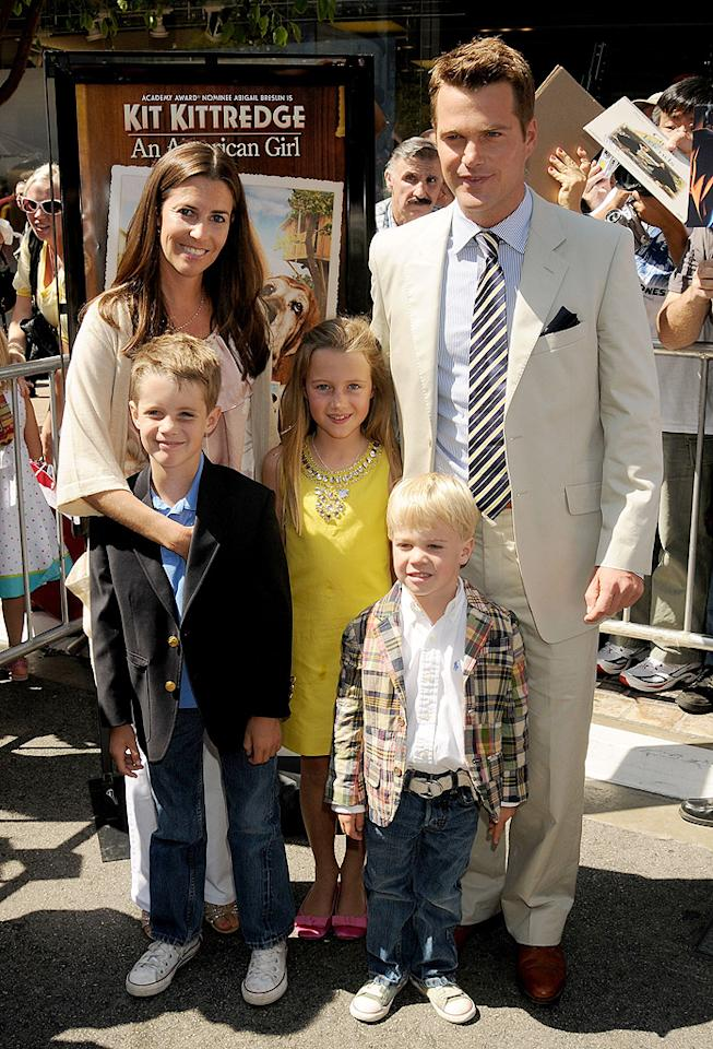"""As the youngest of seven children, it makes sense that Chris O'Donnell would also want a large family. The """"NCIS: Los Angeles"""" actor and his college sweetheart, Caroline Fentress, have five, including Lily, 13, Chip, 11, Charles, 9, Finley, 6, and Maeve, 4. But don't plan on them adding any more to their brood. """"To be honest, we got to four and said, 'Wow, this is a lot,'"""" he told <em>Redbook</em> in 2010. """"We really wanted to have another girl, but we thought, <em>That's crazy</em>. A year later we found out [we were pregnant] and were like, 'Okay, a little miscommunication there....'"""""""