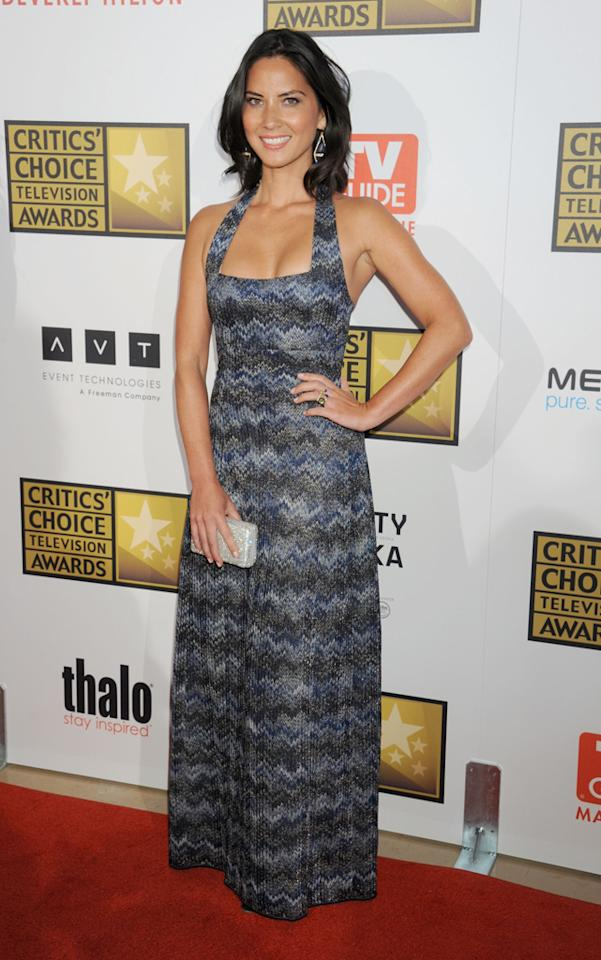 Olivia Munn attends the 2012 Critics' Choice Television Awards at The Beverly Hilton Hotel on June 18, 2012 in Beverly Hills, California.
