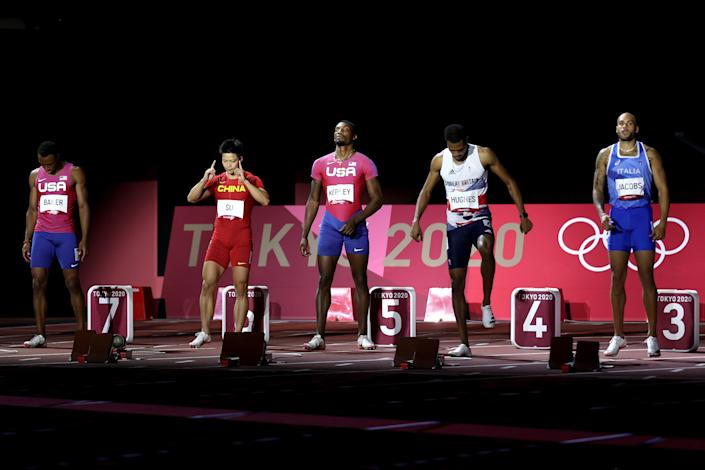 When the men's 100-meter final was contested Sunday in Tokyo, the United States' Christian Coleman was nowhere near it. (Photo by Christian Petersen/Getty Images)
